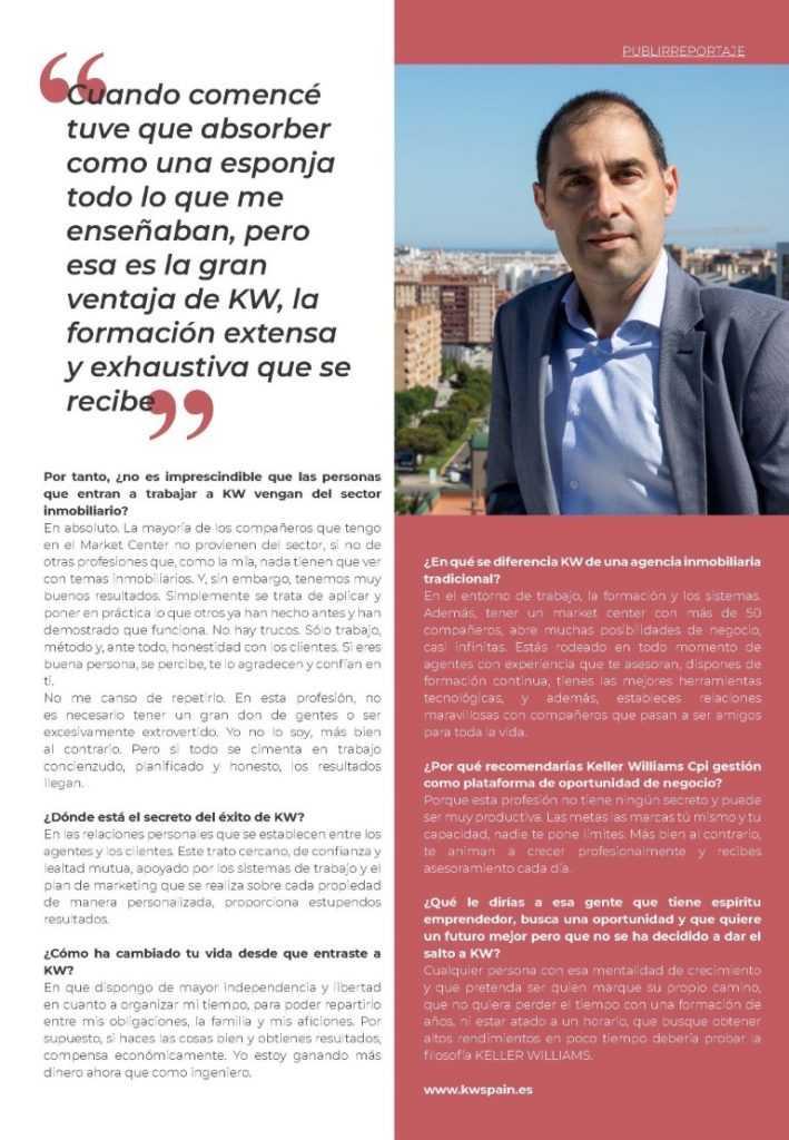 2ª página entrevista Bartolomé Granero en revista HELLO VALENCIA